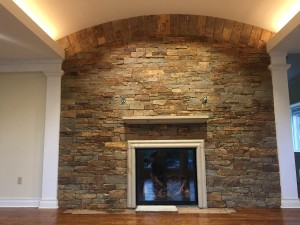 Custom cut fireplace